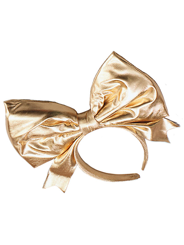 Bow On Headband Gold
