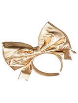 Bow On Headband Gold