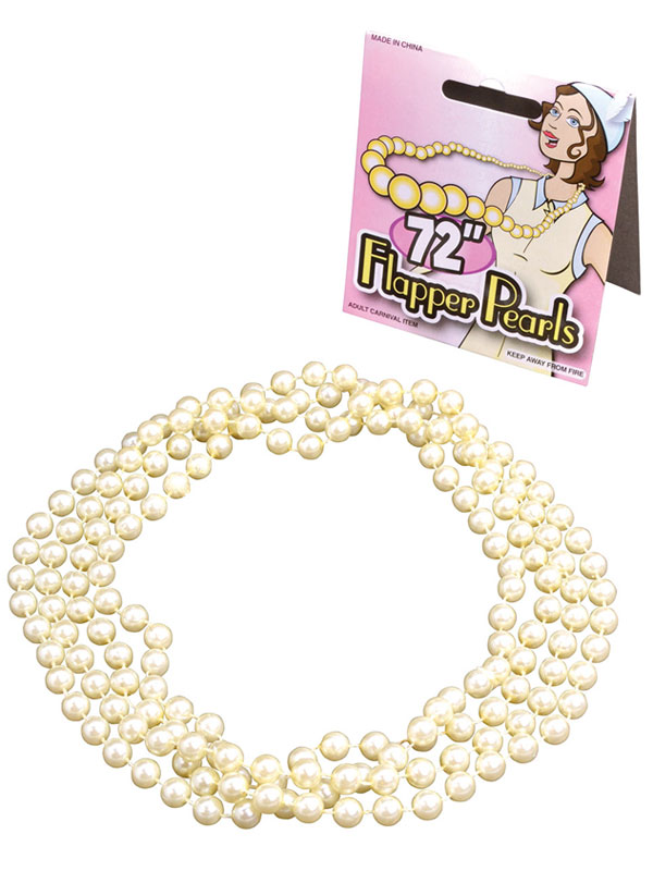 Flapper Beads 72 Pearls