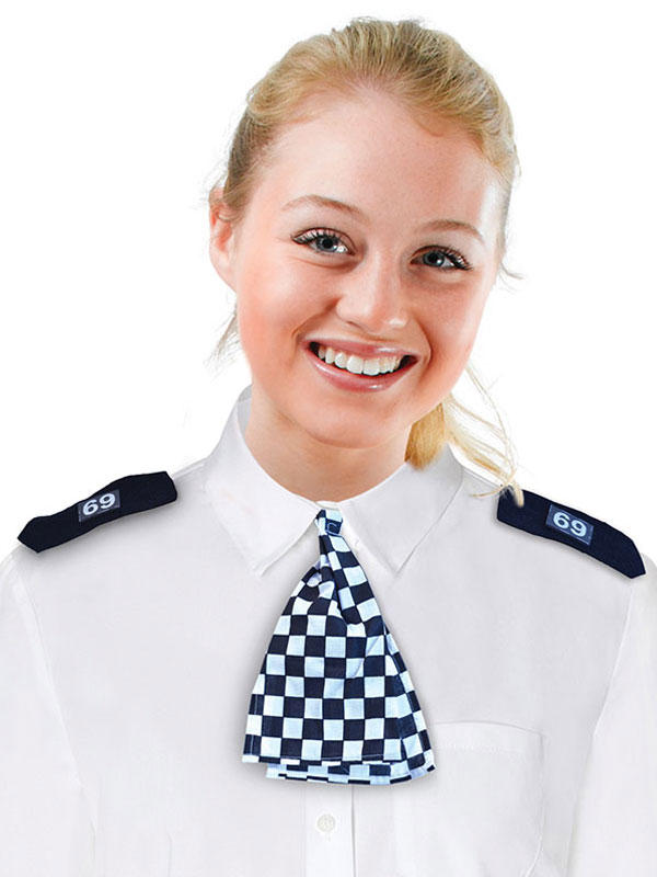 Wpc Scarf + Epaulettes Black And White