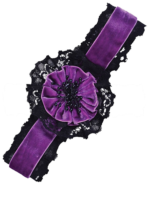Purple Flower Choker