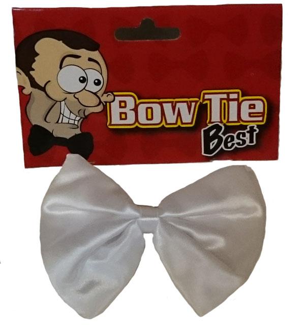 Mens Bow Tie White Best