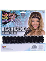 Sequin Headband Black