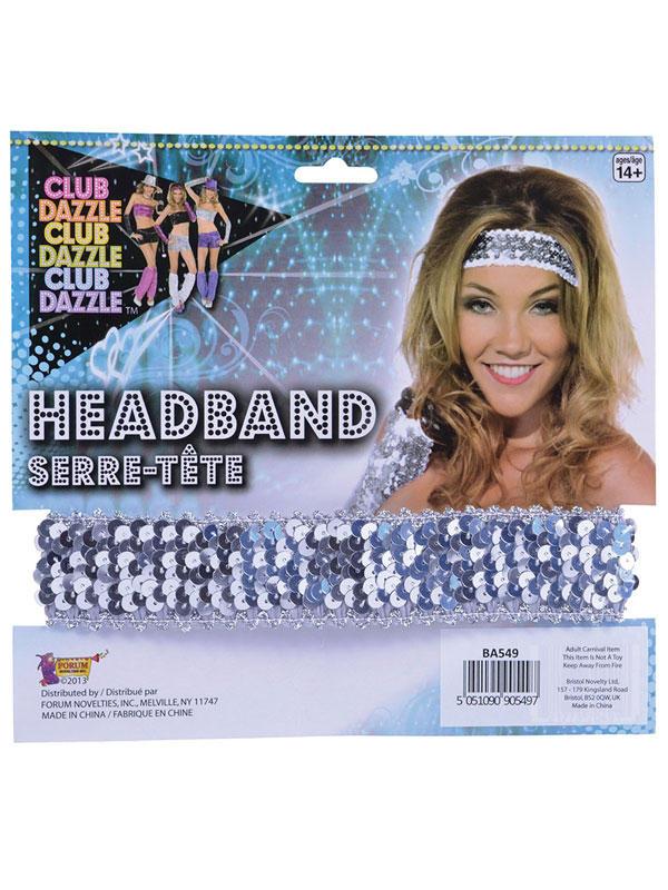 Sequin Headband Silver