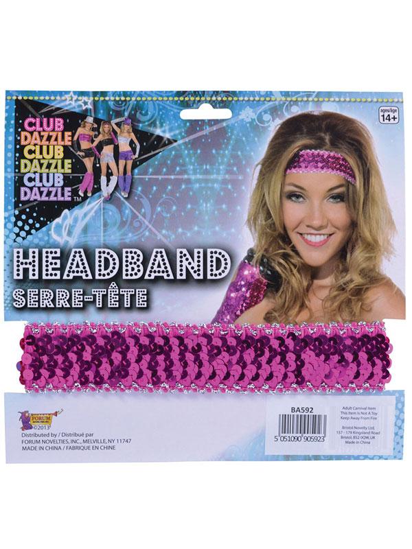 Sequin Headband Pink