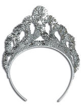 Ladies Girls Tiara Sequin Silver