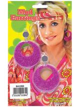 Pink Mod Glitter Ear Rings