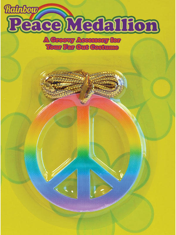 Rainbow Peace Medallion
