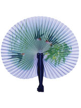 Paper Fans Plastic Handle