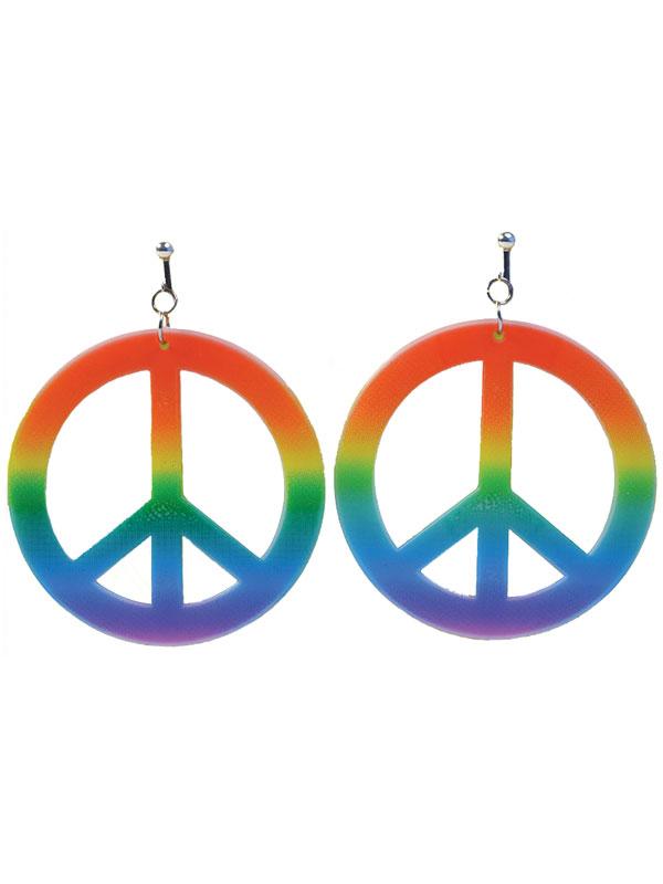 Rainbow Hippie Ear Rings