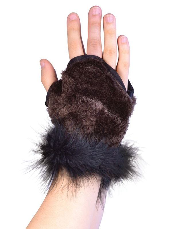 Animal Glovelets Brown