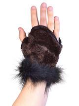 Animal Glovelets Brown