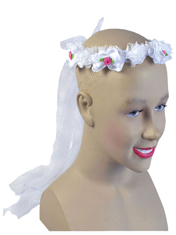 Flower Headband White