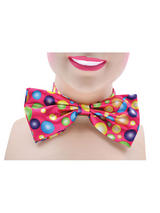 Clown Bow Tie Pink With Spots