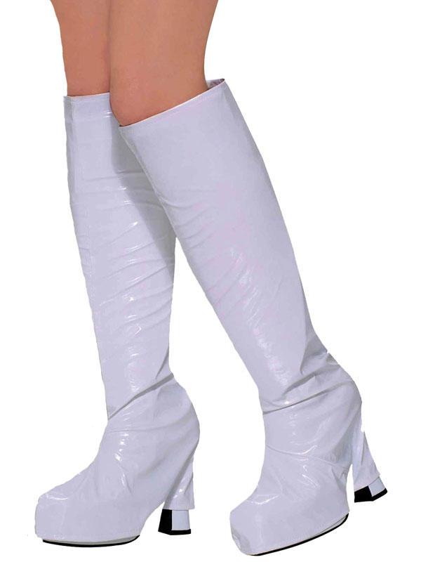 Go Go Boot Tops White