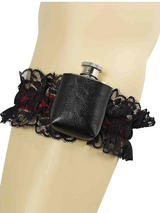 Garter With Hip Flask