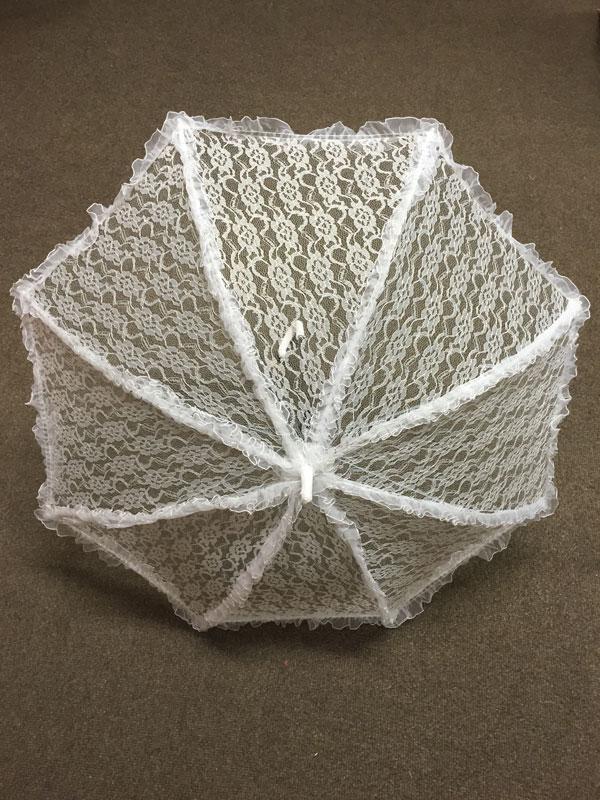 Parasol White Lace