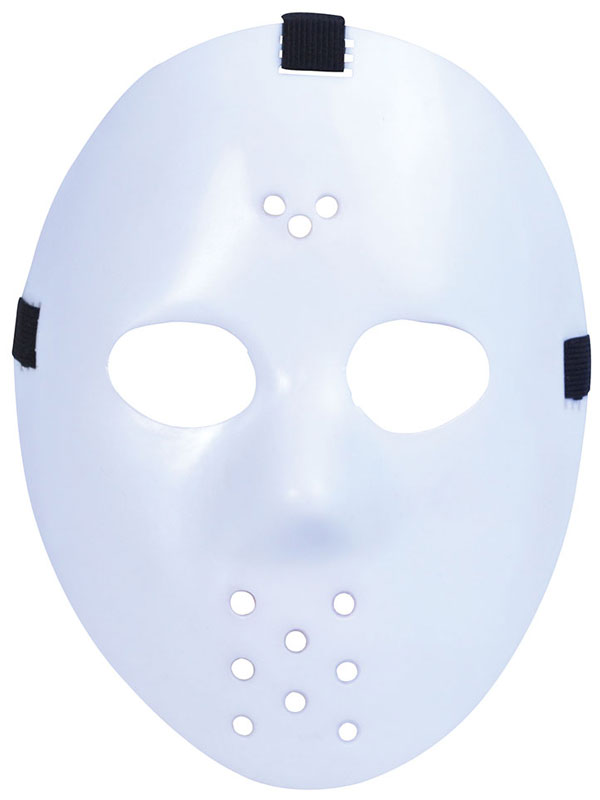 Adult Hockey Mask. White Mask