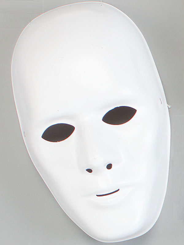 Adult White Male Face Mask