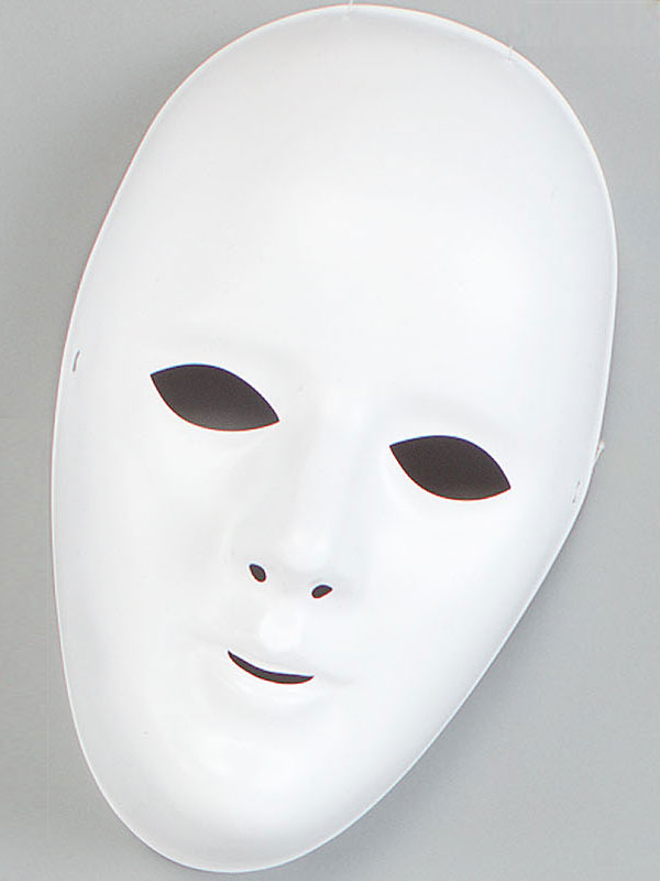 Adult White Female Face Mask