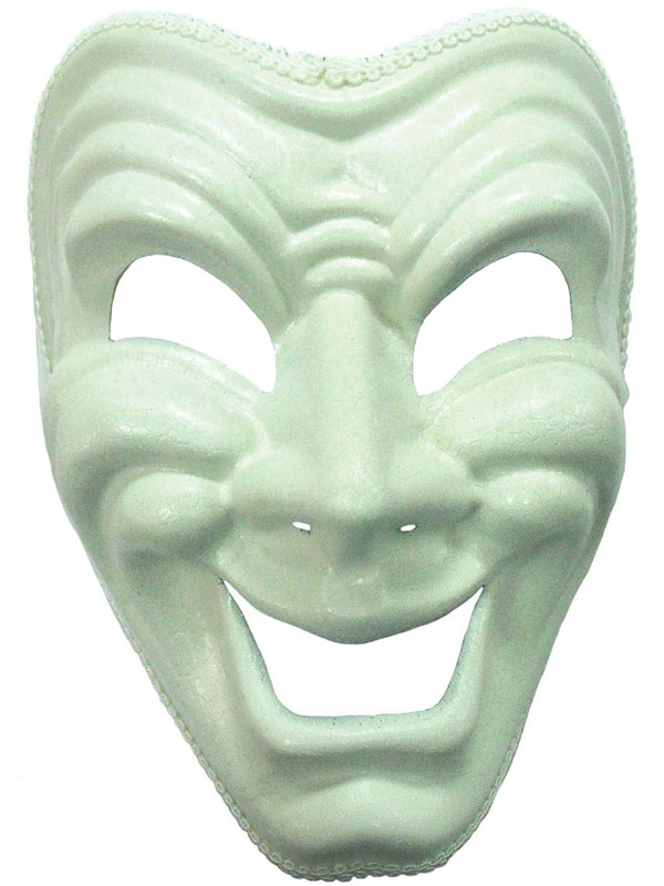 Adult Happy Face Theatre Mask (H B)