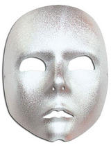 Adult Silver Face Mask
