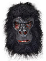 Adult Gorilla (Latex) + Black Hair Mask