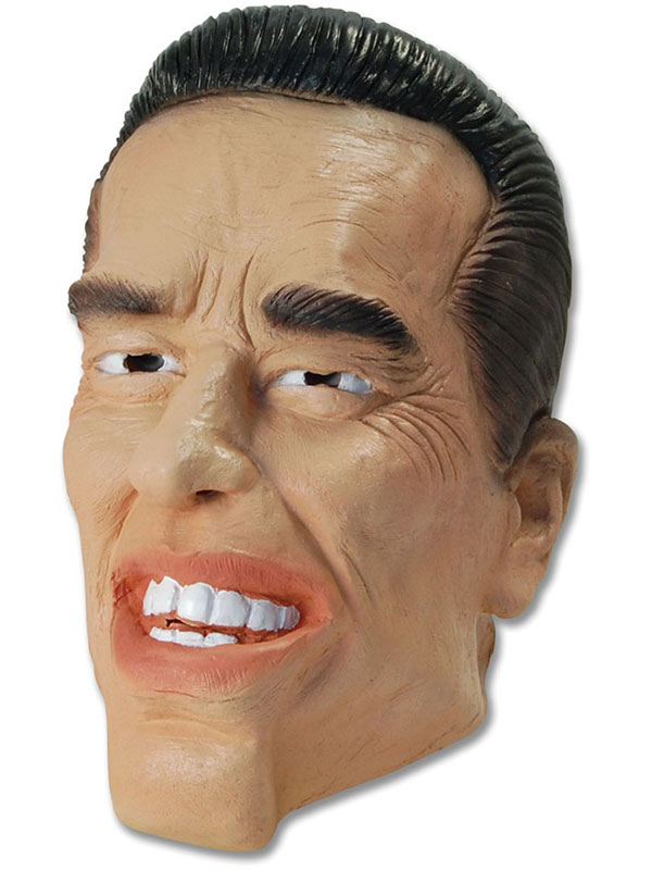 Arnold Schwarzenegger Arnie Rubber Mask Adult Size Halloween Fancy Dress