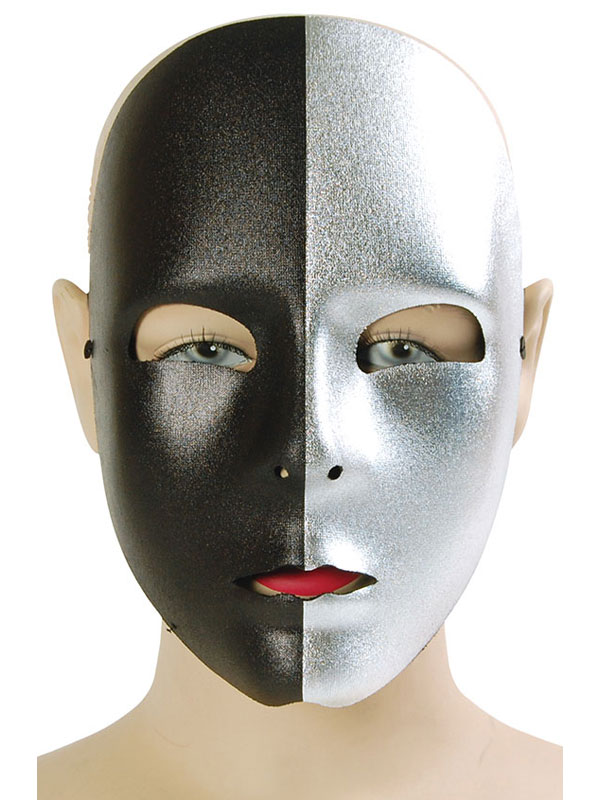 Adult Black & Silver Face Mask