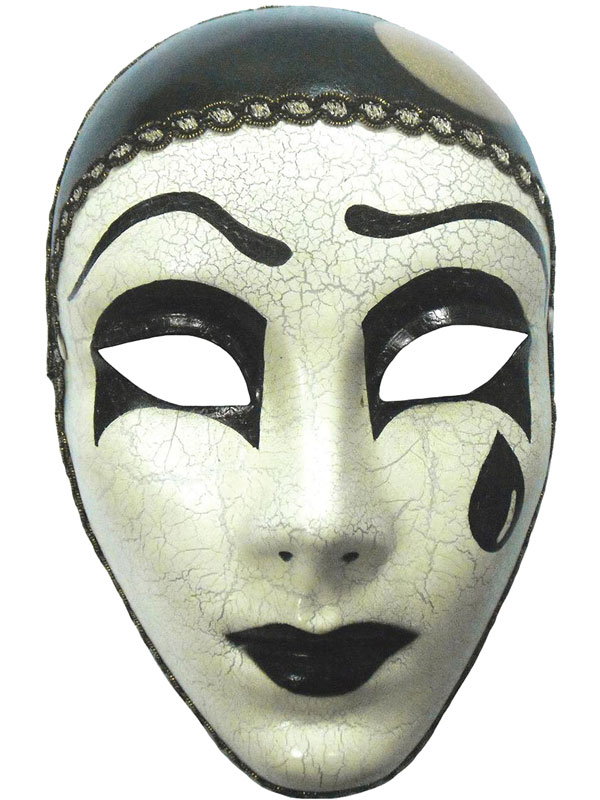 Adult Mime Mask With Tear (H B) Mask