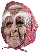 Adult Old Woman Mask & Headscarf