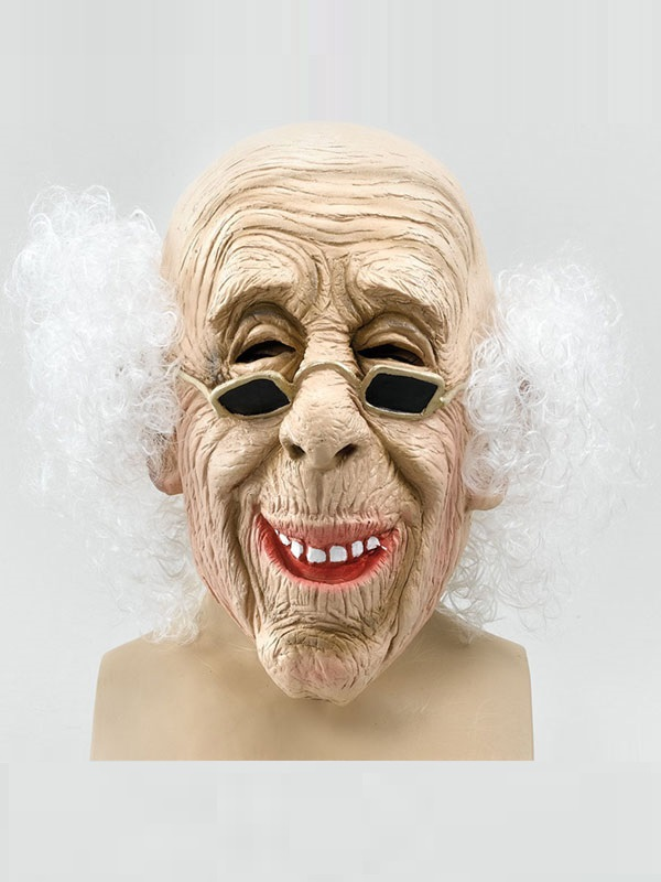 Adult Latex Old Man Mask With Hair