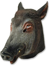 Wild Boar Pig Head Mask Rubber Latex Fancy Dress Prop Party Halloween