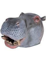 Hippo African Wild Animal Zoo Fancy Dress Latex Rubber Mask New Hippopotamus