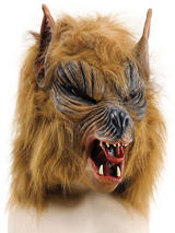 Adult Brown 'She' Wolf Budget Mask