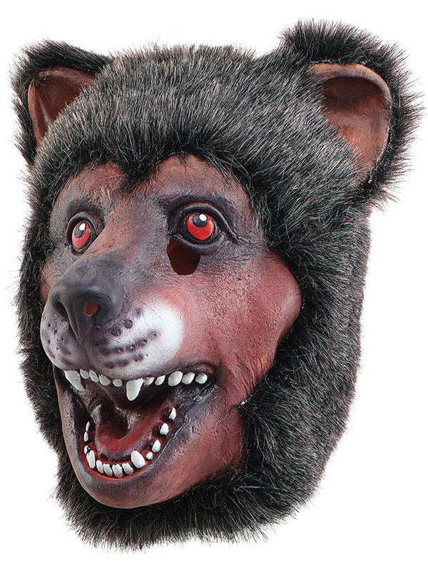Full Rubber Latex Animal Brown Bear Mask Safari Fancy Dress Halloween Grizzly