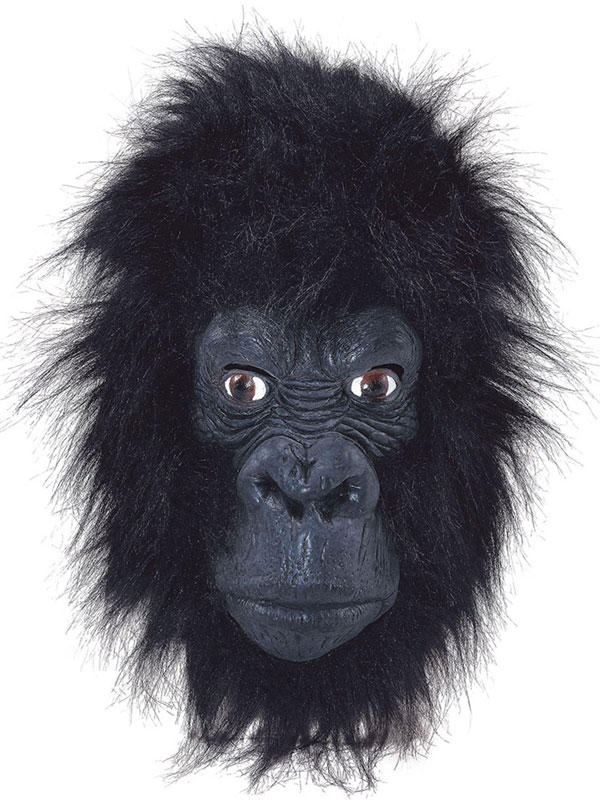 Gorilla Full Overhead Fur Latex Rubber Monkey Fancy Dress Zoo Halloween Mask
