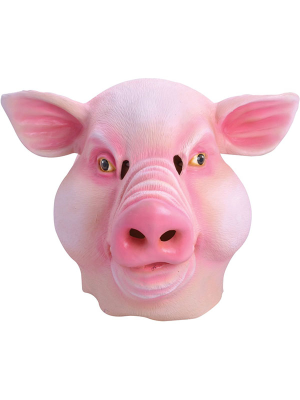 Farm Fat Face Pig Head Mask Rubber Latex Fancy Dress Prop Party Halloween