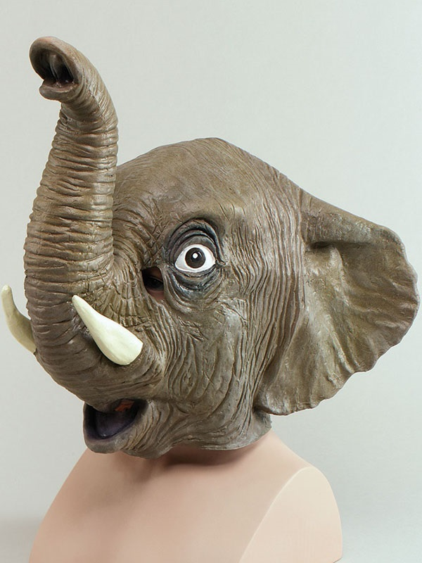 Adult Elephant Overhead Mask