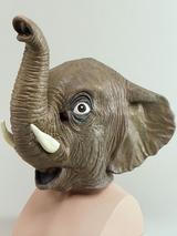 Full Head Rubber Latex Animal Indian Elephant Mask Safari Fancy Dress Halloween
