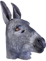 Donkey Head Mask Rubber Latex Panto Fancy Dress Prop Party Christmas Xmas