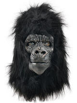 Deluxe Gorilla Full Overhead Fur Latex Rubber Monkey Fancy Dress Halloween Mask