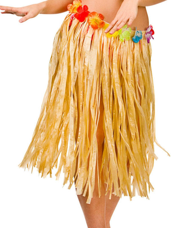Deluxe Adult Hula Skirt Authentic Raffia