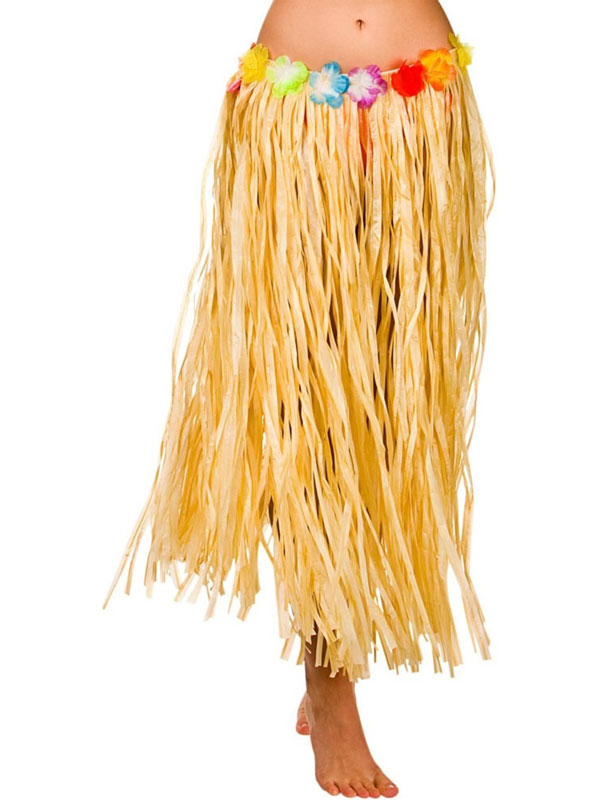 Adult Hula Skirt (Natural)