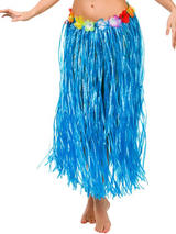 Adult Hula Skirt (Blue)