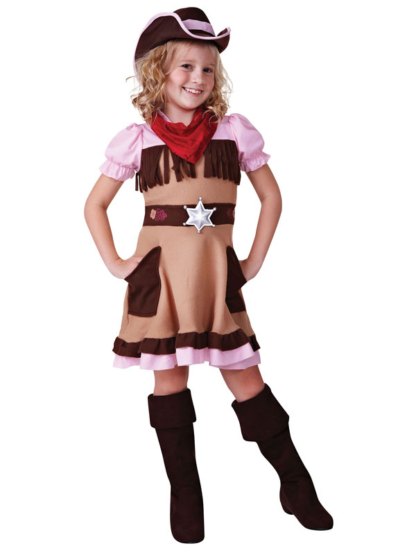 Girls Fancy Wild West Dress Up Costume Cowgirl or Indian Girl Age 4-12 yrs NEW