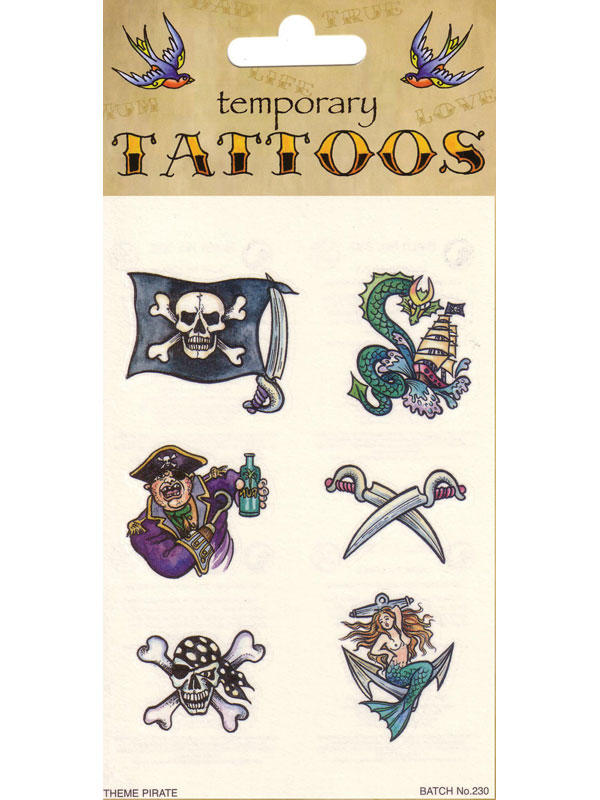 Tattoos Theme Pirate Card