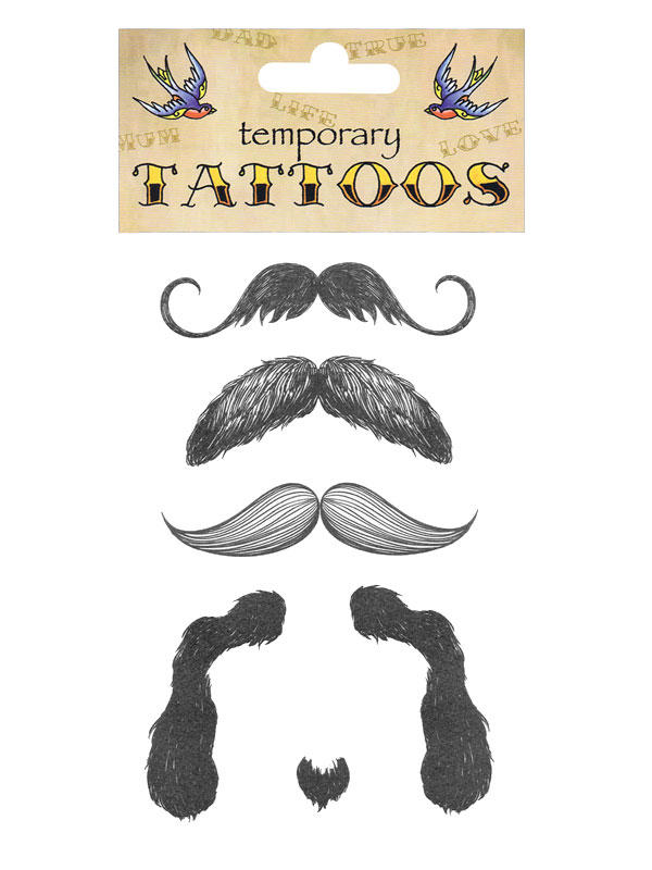 Tattoos Moustache Theme