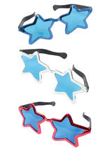 Jumbo Metallic Star Sun Glasses