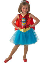 Child Hello Kitty Wonder Woman Tutu Dress Costume